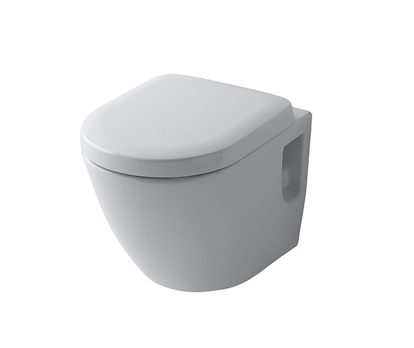 Round NC washbasin against white background