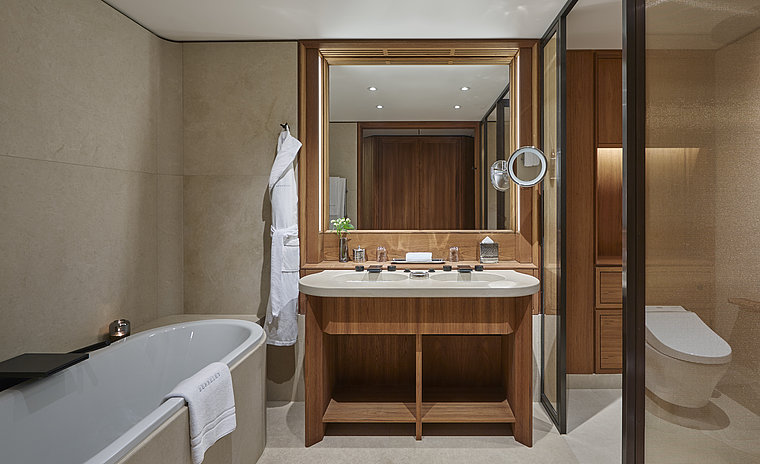 WASHLET™ and bathroom features at Berkeley Hotel in London