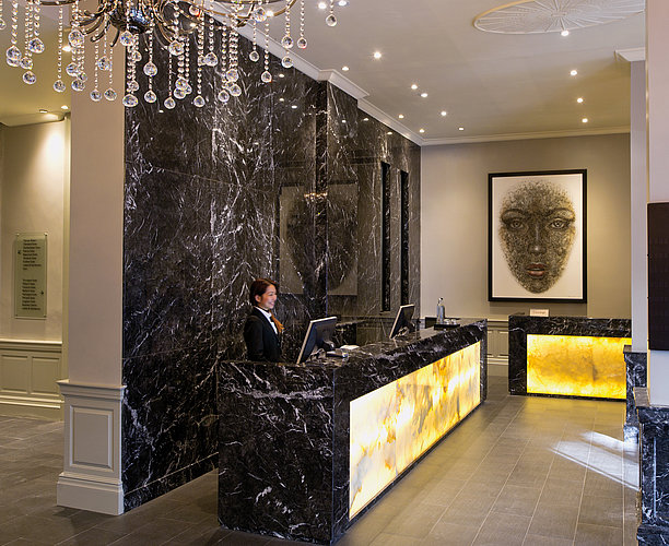 Reception at Radisson Blu Edwardian Grafton Hotel London