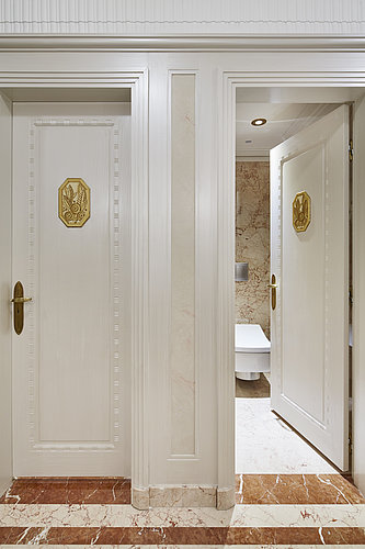 Separate toilet room at Hotel Le Meurice in Paris