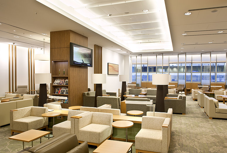 [Translate to Italienisch:] Jal Lounge at Frankfurt Airport